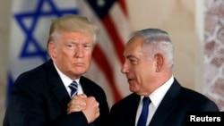 Дональд Трамп (слева) и Биньямин Нетаньяху (справа), 23 мая 2017