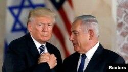 Дональд Трамп (слева) и Биньямин Нетаньяху (справа), 23 мая 2017 года.