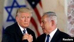Дональд Трамп менен Биньямин Нетаньяху.