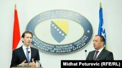 Šefovi diplomacija Austrije i BiH, Sebastian Kurz i Igor Crnadak