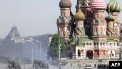 Танки на Красной площади - репетиция парада