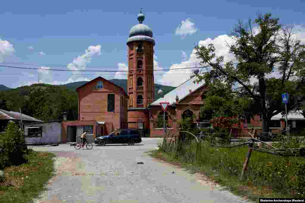 A mosque in the village of Duisi, in Pankisi Gorge – a majority-Muslim enclave inside mostly Christian Georgia.