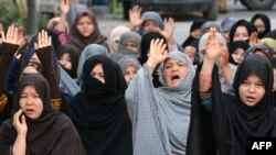 FILE: Hazara women protest the killing of their community members in Quetta, Balochistan.