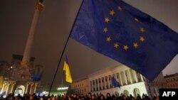 Акция протеста против нежелания правительства Украины подписать договор с ЕС (Киев, 21 ноября 2013 года)