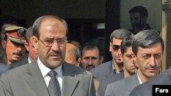 وزیر نیروی ایران در فرودگاه به آقای المالکی خوش آمد گفت.