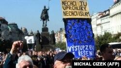 Демонстрация против мигрантов (Прага,12 сентября 2015 года)