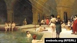 Жан Леон Жэром, «Вялікая лазьня ў Бурсе, Турэччына» (1885)