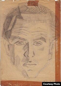 Георге Бабу Урсу в 20 лет, автопортрет
