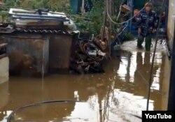 Наводнение в Жезказгане 29 сентября 2012 года.