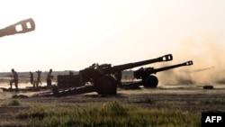 Forcat e qeverisë së Irakut gjatë ofensivës kundër militantëve të IS-it në Tikrit