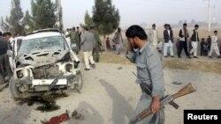Pamje pas një sulmi të mëparshëm me bombë në provincën Kunduz në Afganistan