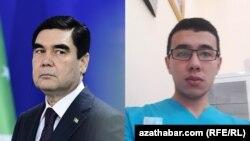 Türkmenistanyň prezidenti Gurbanguly Berdimuhamedow (çepde) we Kasymberdi Garaýew