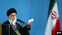 Иранның жоғарғы билік басшысы аятолла Әли Хаменеи. Тегеран, 7 қаңтар 2015 жыл.