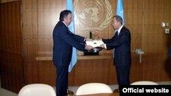 Հայաստանի դեսպան Կարեն Նազարյանի և ՄԱԿ-ի գլխավոր քարտուղար Բան Կի-մունի հանդիպումը, արխիվ