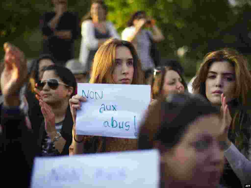 تظاهرات در برابر مؤسسه عالی مستقل انتخابات