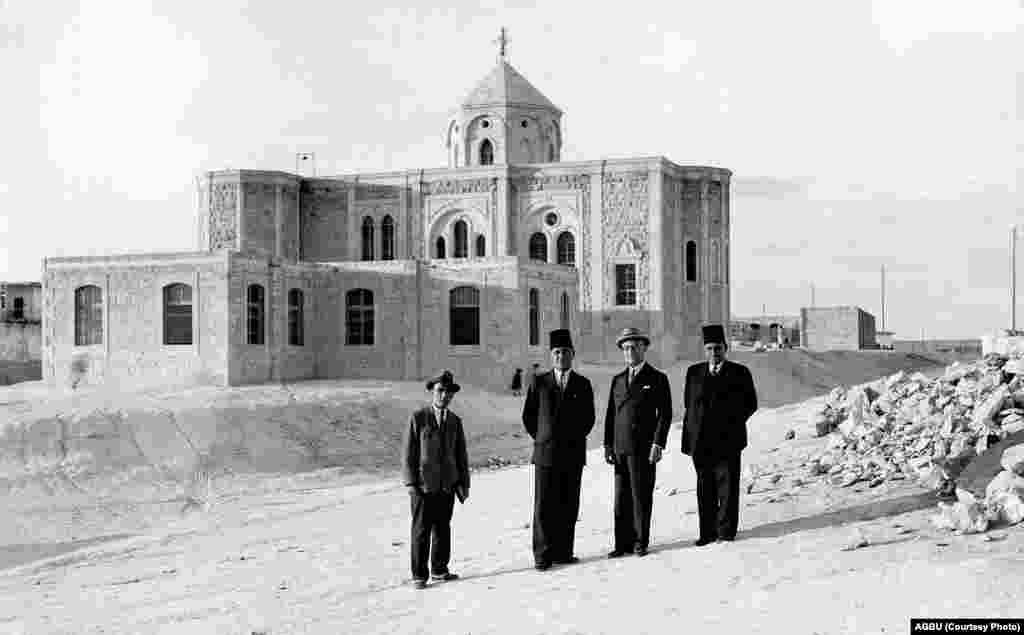 An Armenian church and school in Aleppo in 1936