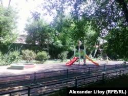 Детская площадка, сделанная на деньги города