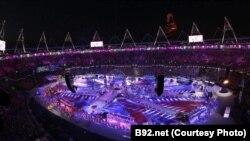 Во время церемонии закрытия Олимпиады 2012 года в Лондоне. 12 августа 2012