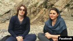 Arash Sadeghi (left) has reportedly been refusing to eat for more than two months to protest the October 24 arrest of his wife, Golrokh Ebrahimi (right).