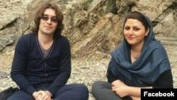 Arash Sadeghi (left) and Golrokh Ebrahimi Iraee