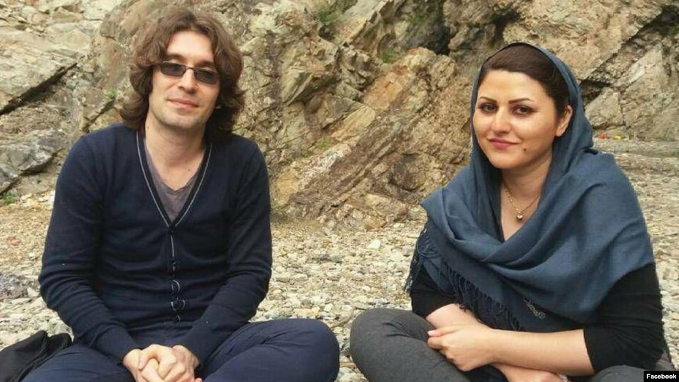 Arash Sadeghi (left) and Golrokh Ebrahimi Iraee