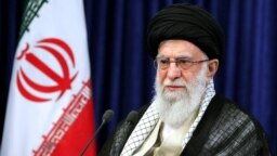 IRAN -- Iranian Supreme Leader Ayatollah Ali Khamenei delivers a televised speech, marking the 31th anniversary of the death of Iran's late leader Ayatollah Ruhollah Khomeini, in Tehran, June 3, 2020