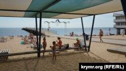 Крым, пляж Еўпаторыі