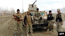 Pjesëtarë të policisë kufitare të Afganistanit