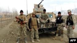 Афганські силовики у місті Майдан-Шар, центрі провінції Вардак, ілюстраційне фото