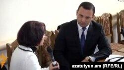Адвокат Ерем Саргсян дает интервью Радио Азатутюн, Гюмри, 29 января 2016 г․