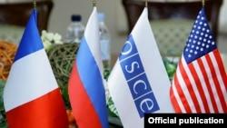 Флаги стран-сопредседателей Минской группы ОБСЕ