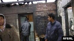 Семејство Алиевски чија куќа изгоре во пожар