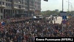 Москва, Пушкинская площадь 5 мая 2018