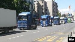 Околу 150 камиони денеска возеа од Саем до Владата