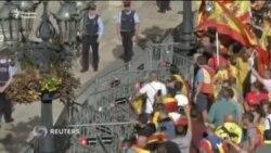 Барселонада Испания бирлиги тарафдорлари намойиш ўтказди