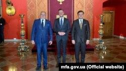 Министры иностранных дел Литвы, Польши и Украины, Вильнюс, 7 июля 2021 года