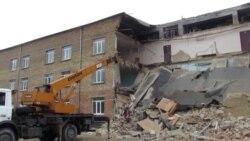 На Київщині обвалилася частина школи (відео)