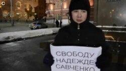 Акция в Москве за мир на Украине