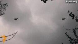 Военные самолеты над Симферополем