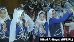 طالبات يشاركن في مهرجان للدبكات التركمانية بكركوك