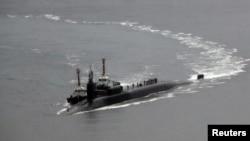 """Атомная подводная лодка ВМС США """"Мичиган"""" на военно-морской базе Пусан в Южной Корее"""