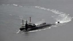 زیردریایی آمریکایی با نیروی محرکه اتمی در سواحل کره جنوبی (عکس از آرشیو)