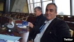 France - Markar Esayan, an ethnic Armenian Turkish parliamentarian, at a PACE session in Strasbourg, 24Jan2016.