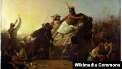 Писарро пленяет перуанского инку. Художник Джон Эверетт Милле. 1845