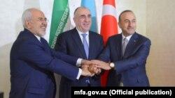 Azərbaycan, İran və Türkiyənin xarici işlər nazirləri