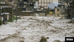 A huge flood wave inundated Khorramabad, capital of Lorestan province on Monday, April 1, 2019