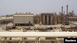 بخشی از تأسیسات گازی پارس جنوبی.