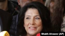 Salome Zurabișvili, adresîndu-se astăzi presei la Tbilisi