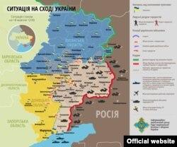 Обстановка на востоке Украины по состоянию на 18 октября