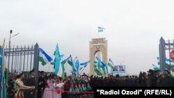 Церемония открытия одного из КПП на таджикско-узбекской границе
